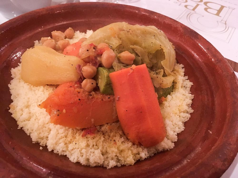 couscous au retaurant le Petit Beur à Rabat