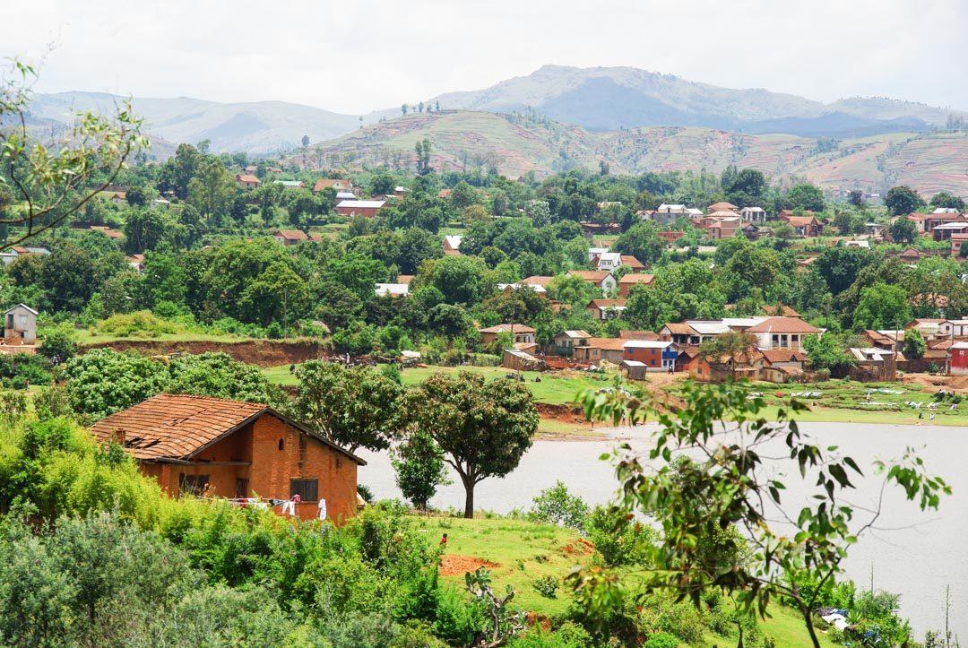 Lac de Betafo dans les environs d'Antsirabé
