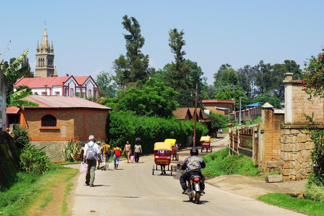 Rue d'Antsirabe à Madagascar