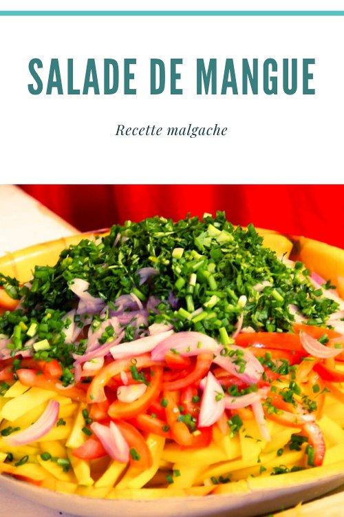 Recette malgache de la salade de mangue