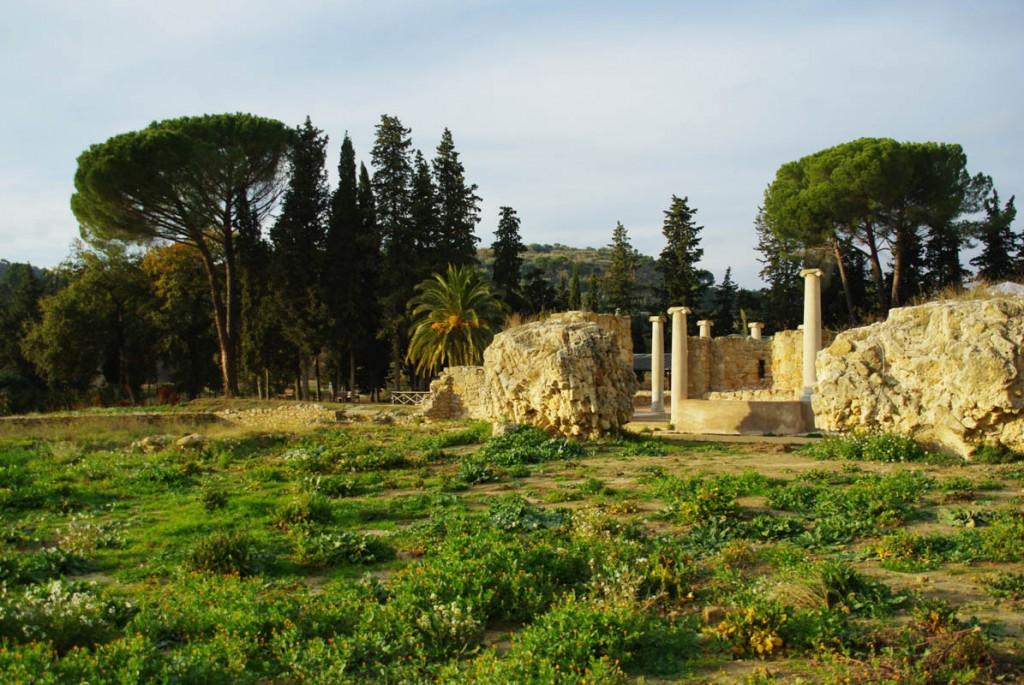 Vue extérieure de la Villa Romana del Casale - Sicile