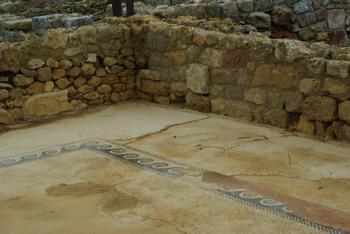 mosaique retrouvée dans les fouilles de Morgantina