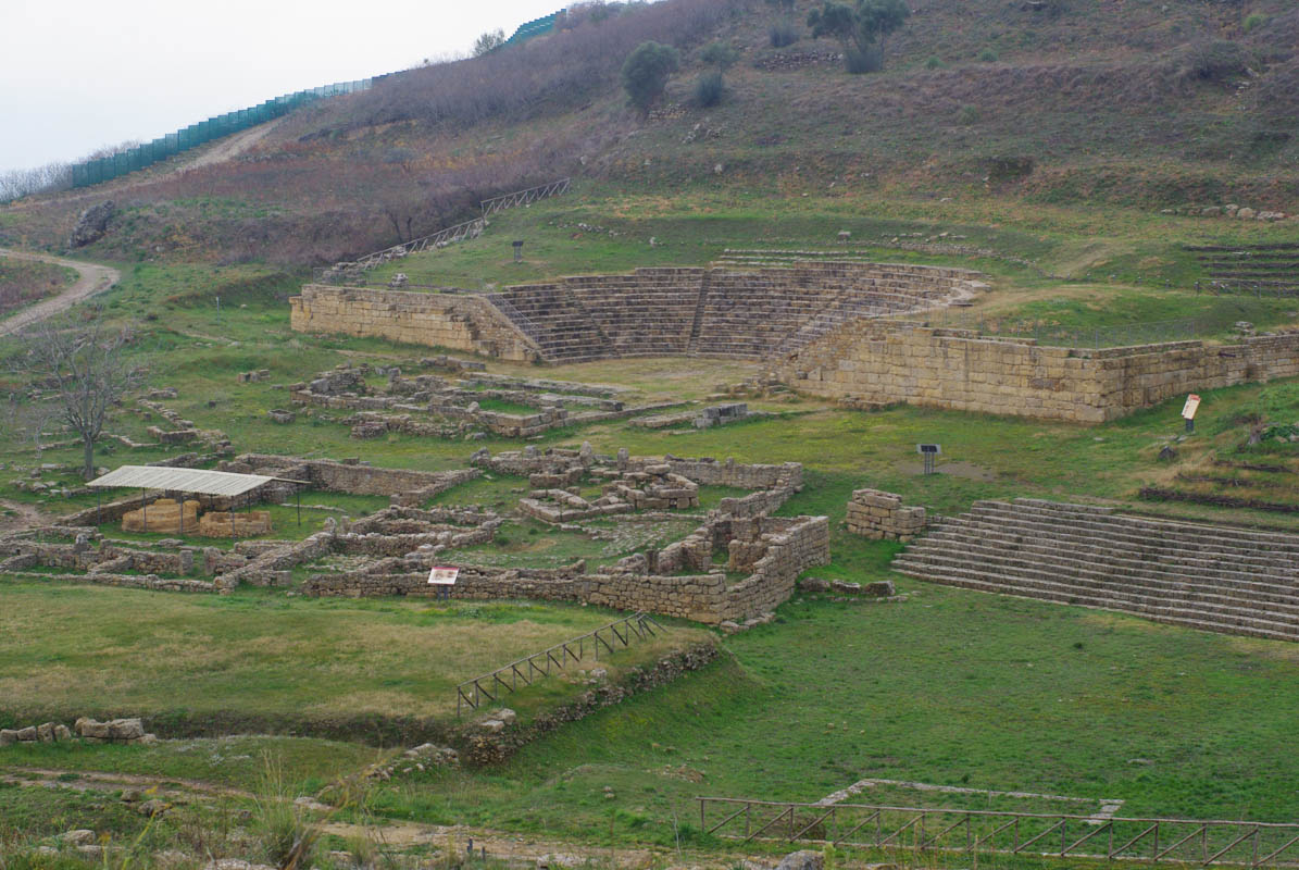 Panorama sur les ruines de Morgantina