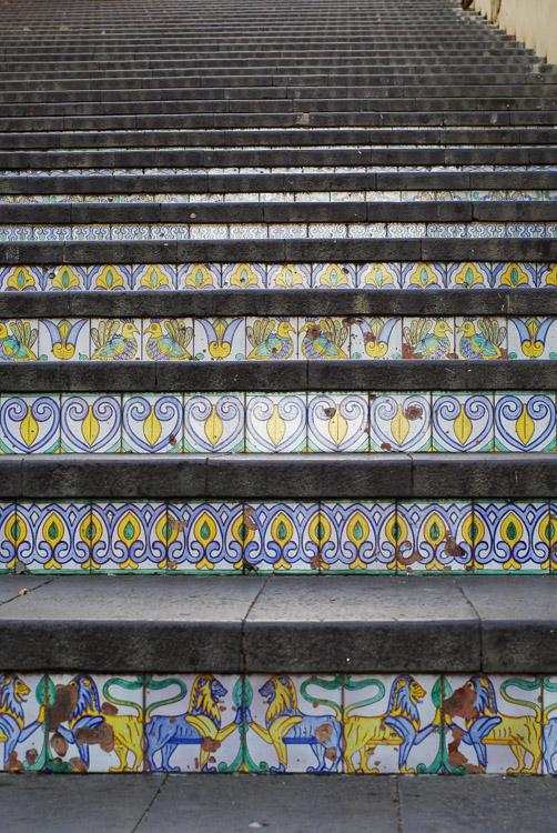 Détail de l'Escalier de Caltagirone