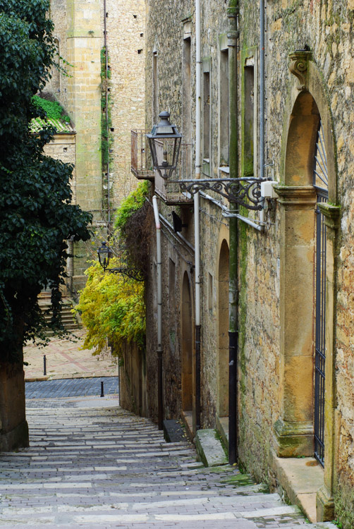 Escalier en pente raide à Piazza Armerina
