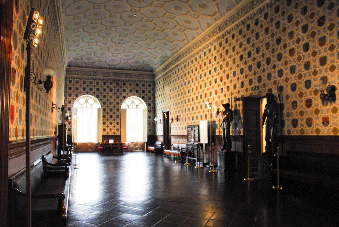 Salles des blasons du chateau de Donnafugata en Sicile