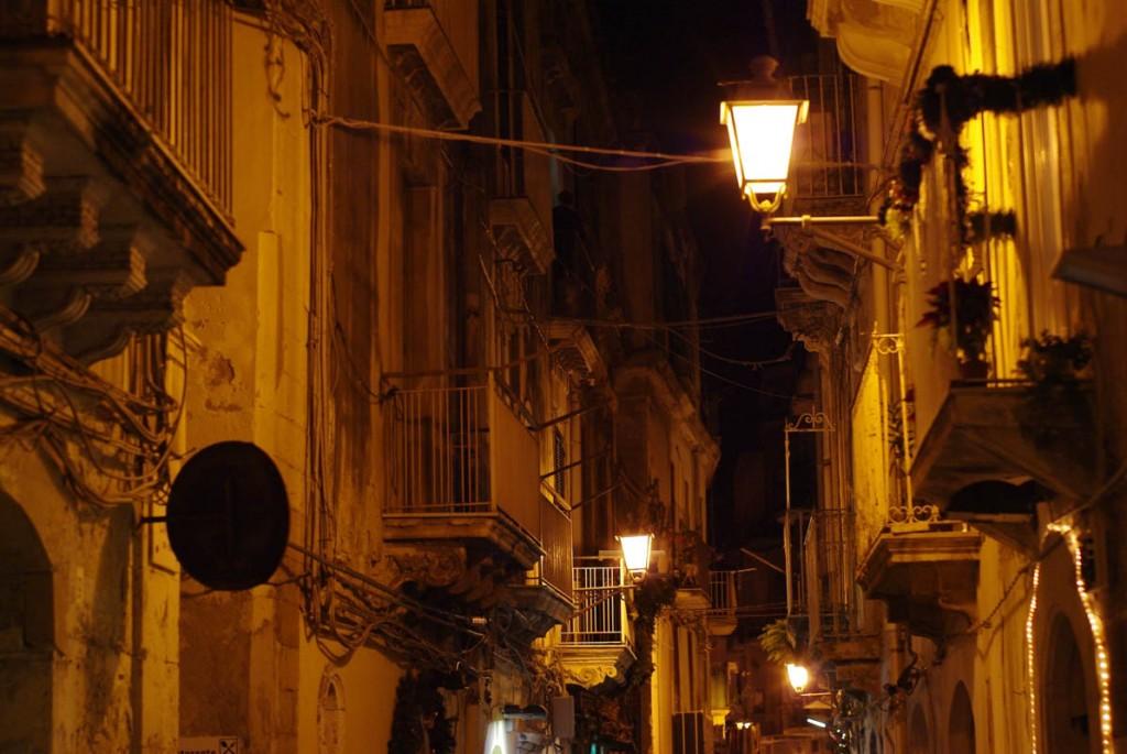 Les rues de Syracuse de nuit