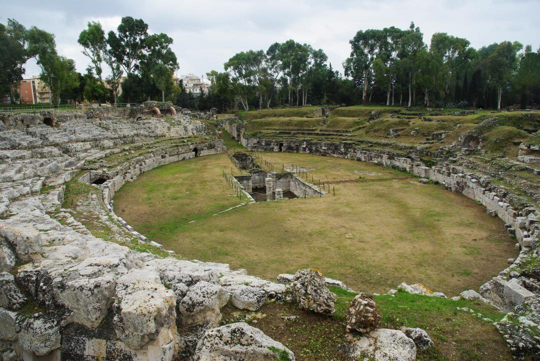l'Amphithéatre romain de Syracuse