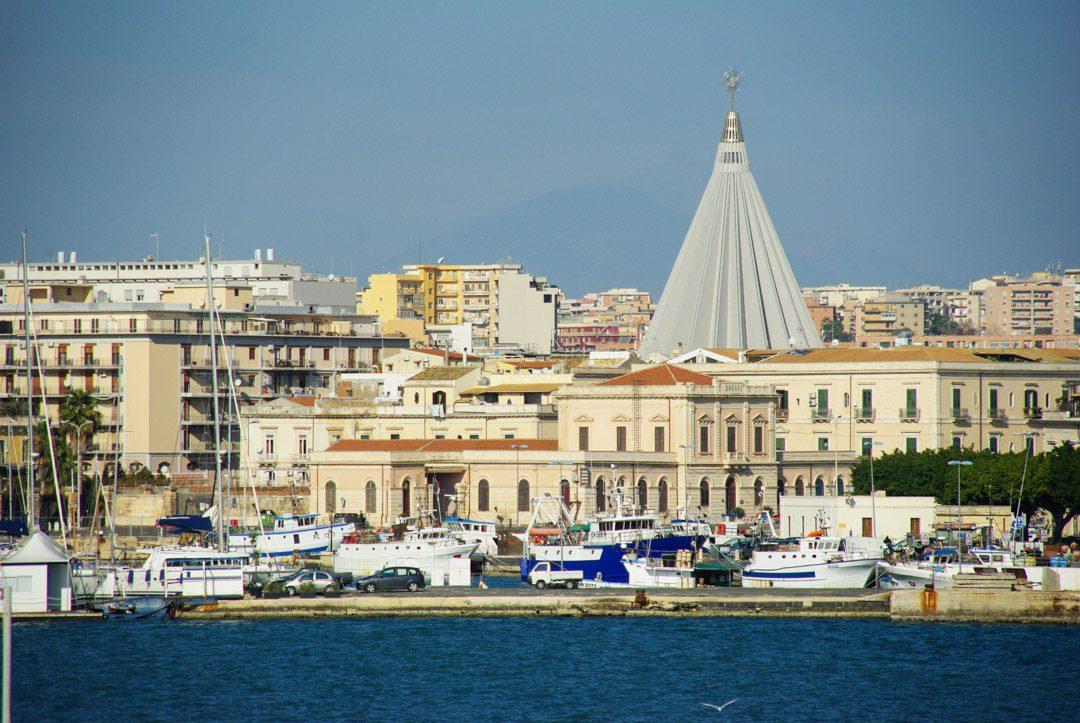 Vue sur le quartier de Neapolis à Syracuse en Sicile