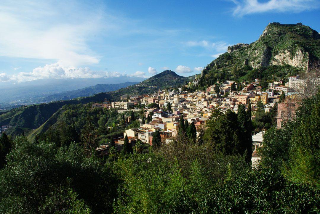 vue panoramique sur Taormina