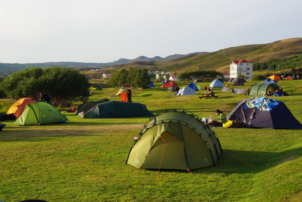 lislande en camping
