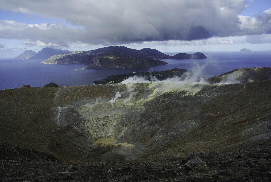 randonnée au cratère de Vulcano