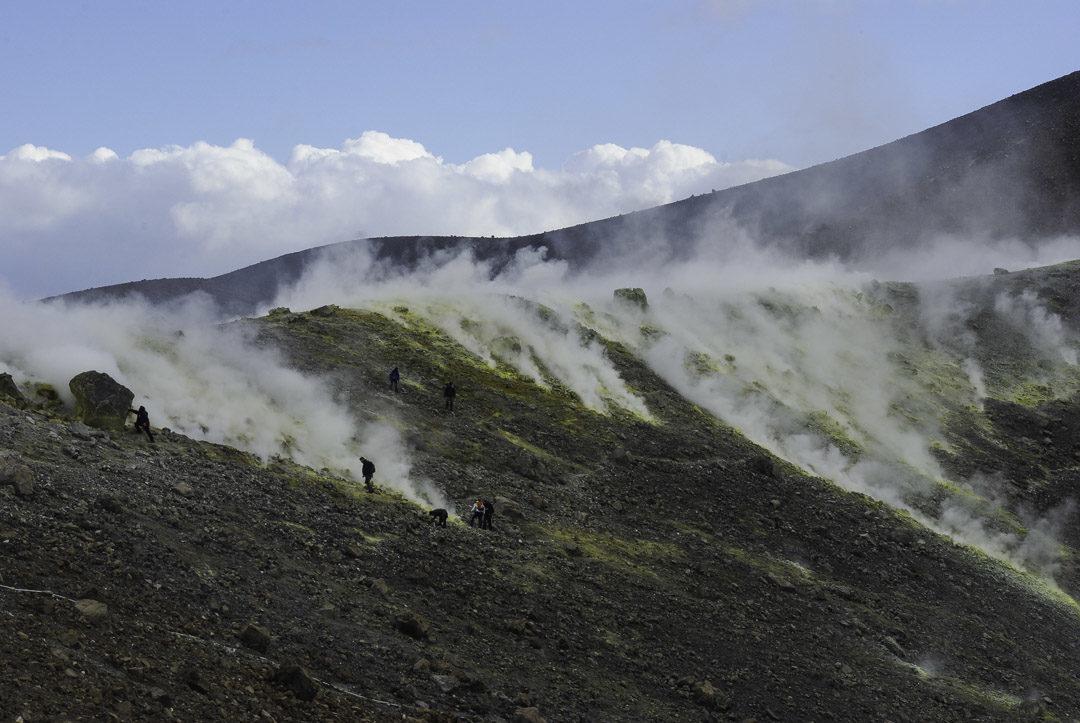 fumerole - cratère de Vulcano