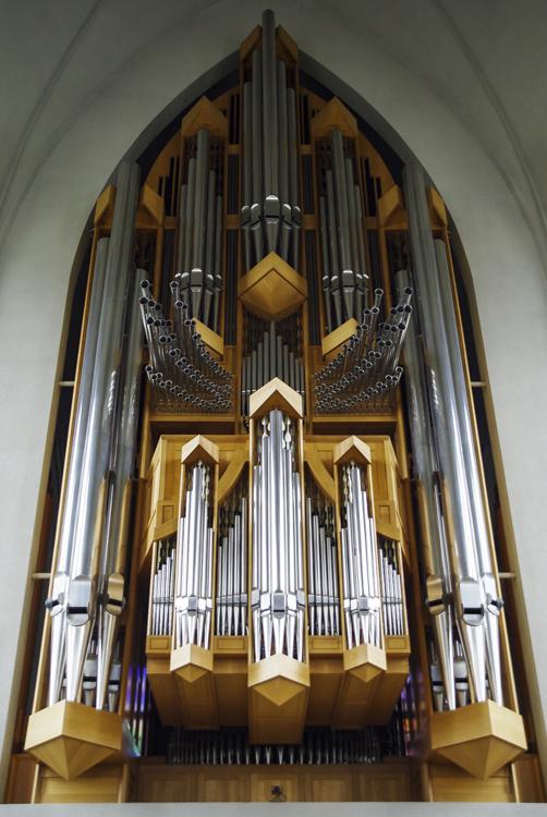 L'orgue moderne de l'église de Reykjavik
