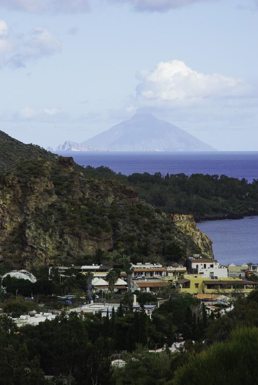 vue sur le volcan de Stromboli