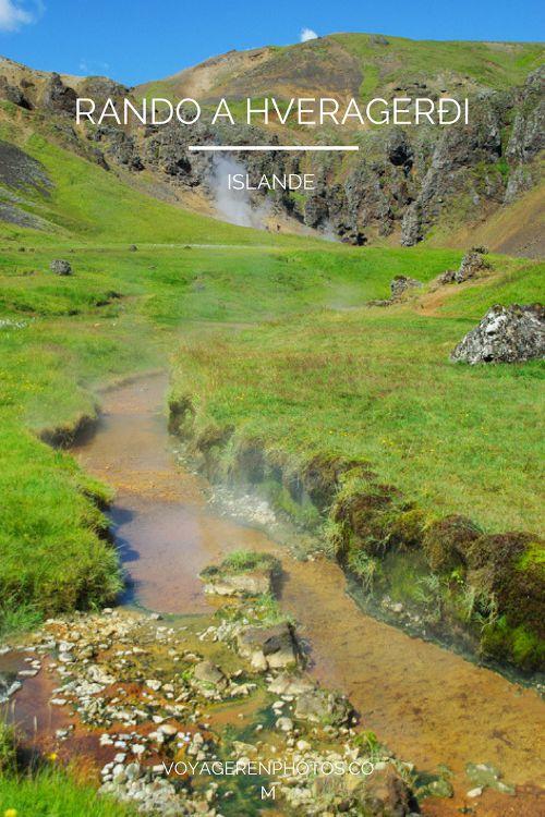 randonnée dans les sources chaudes autour d'Hveragerði - Islande