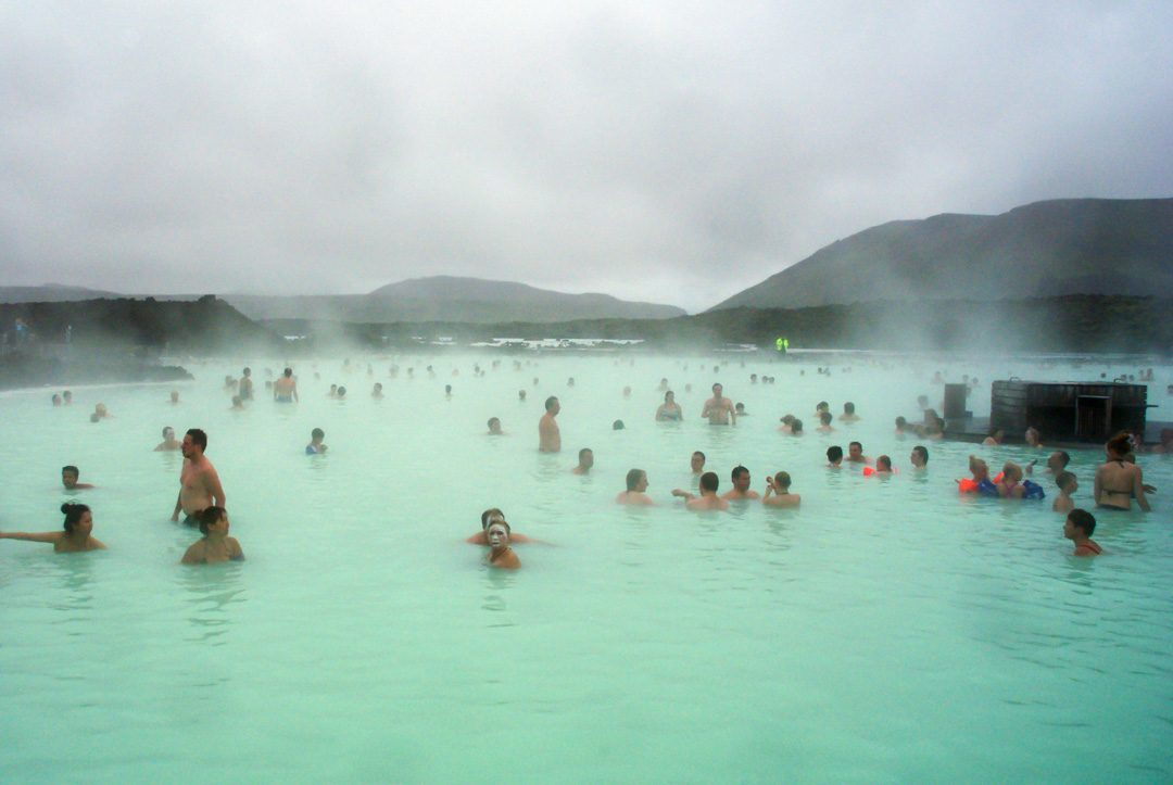 baignage au blue Lagoon - Iceland