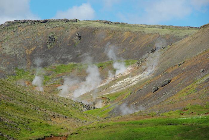 Découverte de la zone géothermique d'Hveragerði