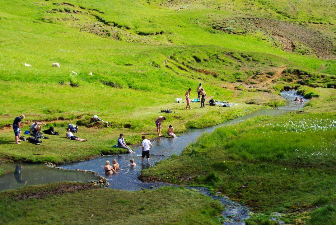 baignade source chaude Hveragerði - Islande