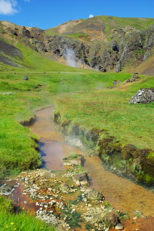 randonnée à la source chaude d'Hveragerði - Islande