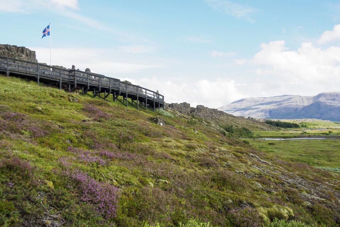 le parlement islandais de Thingvellir