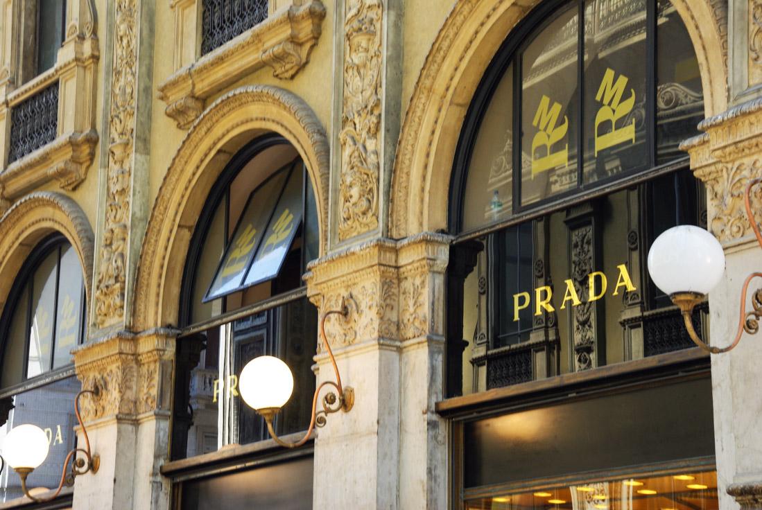 boutique Prada - Galerie Vittorio Emmanuel II - Milan