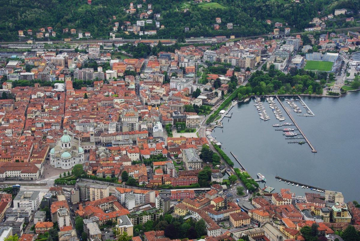 Panorama sur la ville de Côme