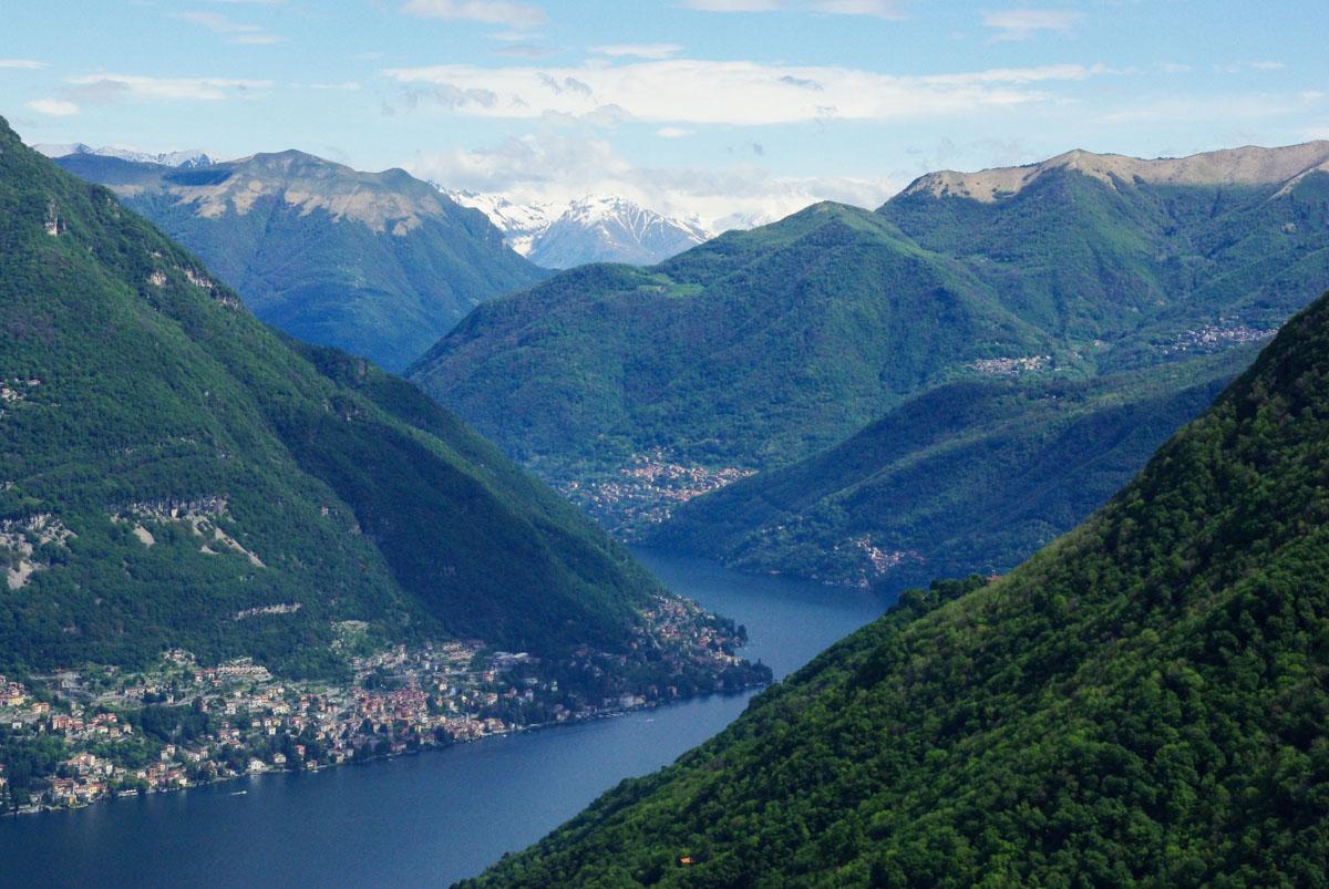 Randonnée sur les hauteurs du lac de Côme…