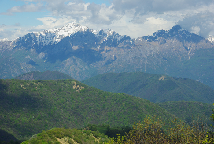 Panorama sur les Alpes depuis le monte Bolletone