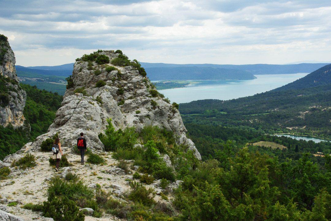 panorama sur le Lac de Sainte Croix