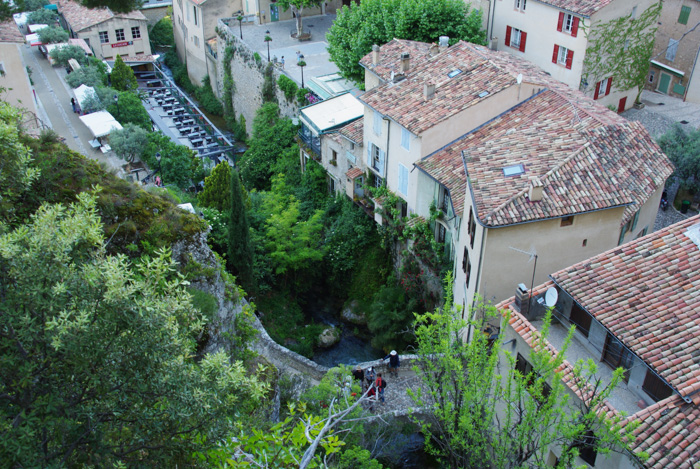 vue sur le village de Moustiers Sainte Marie