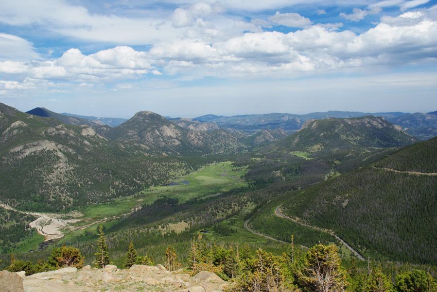 Panorama sur le parc national des Rocheuses - Colorado
