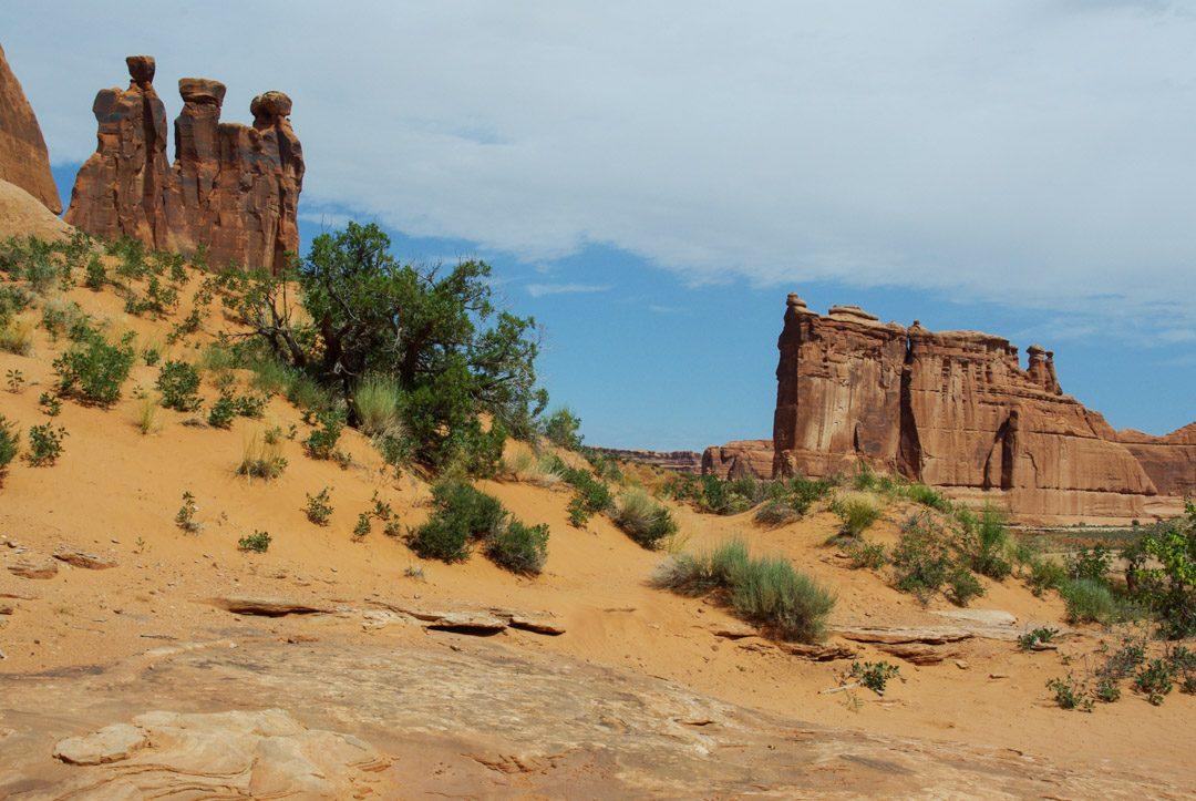 Formation rocheuses des 3 Grâces - arches national park
