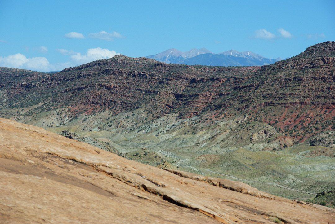 montagnes vertes - Arches National Park - Utah