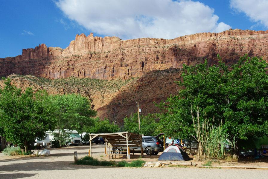 camping près de Moab - Utah - Ouest Américain - Etats Unis