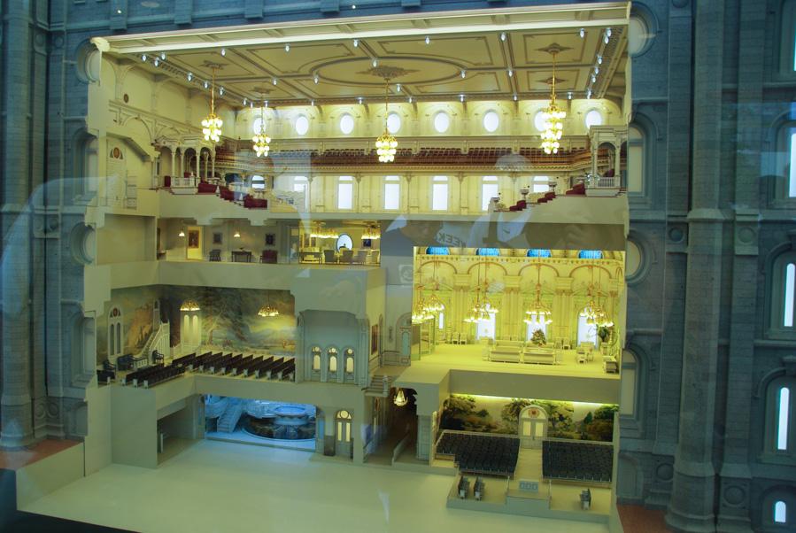 Vue intérieure du Temple mormon de Salt Lake City