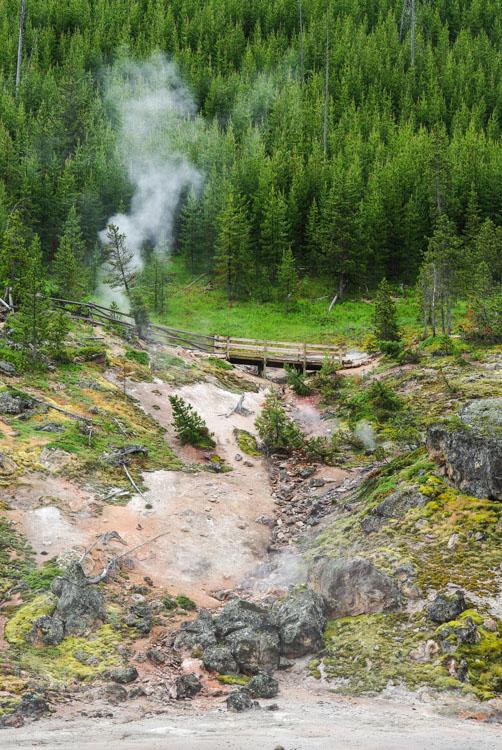 site géothermique d'Artist Paint Pots - Yellowstone