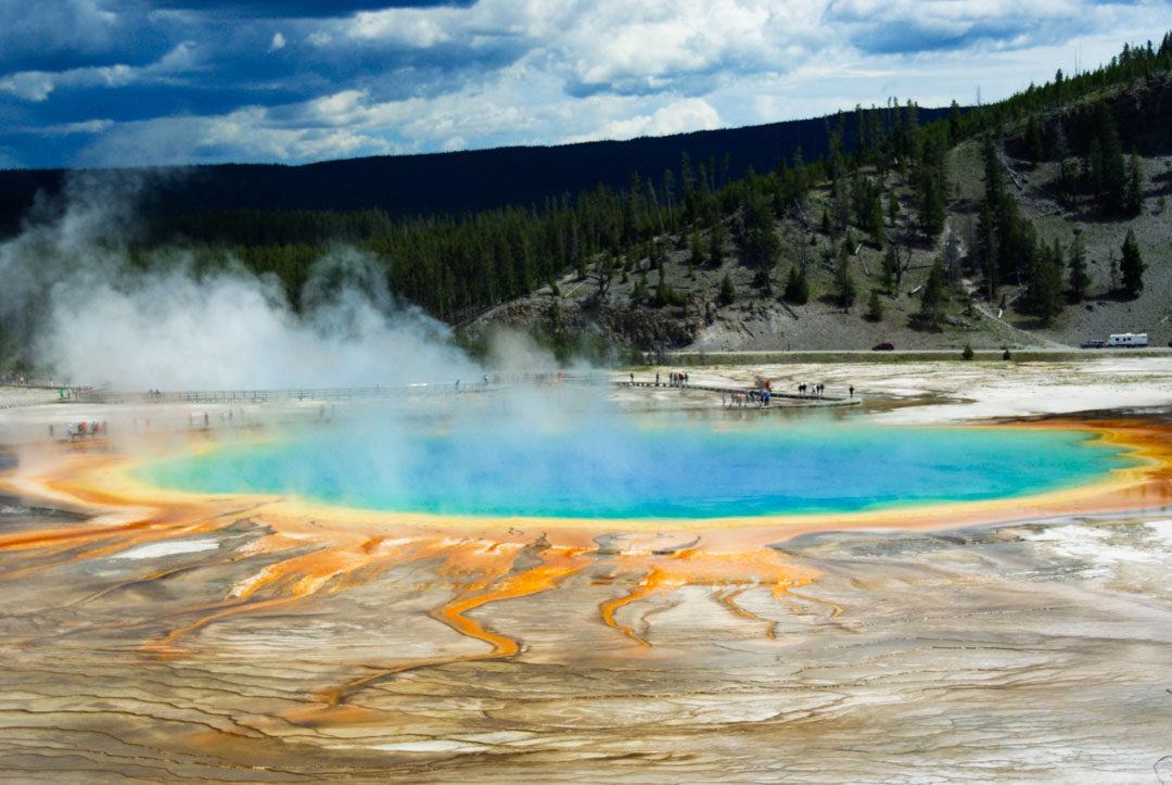 le grand prismatic spring de Yellowstone
