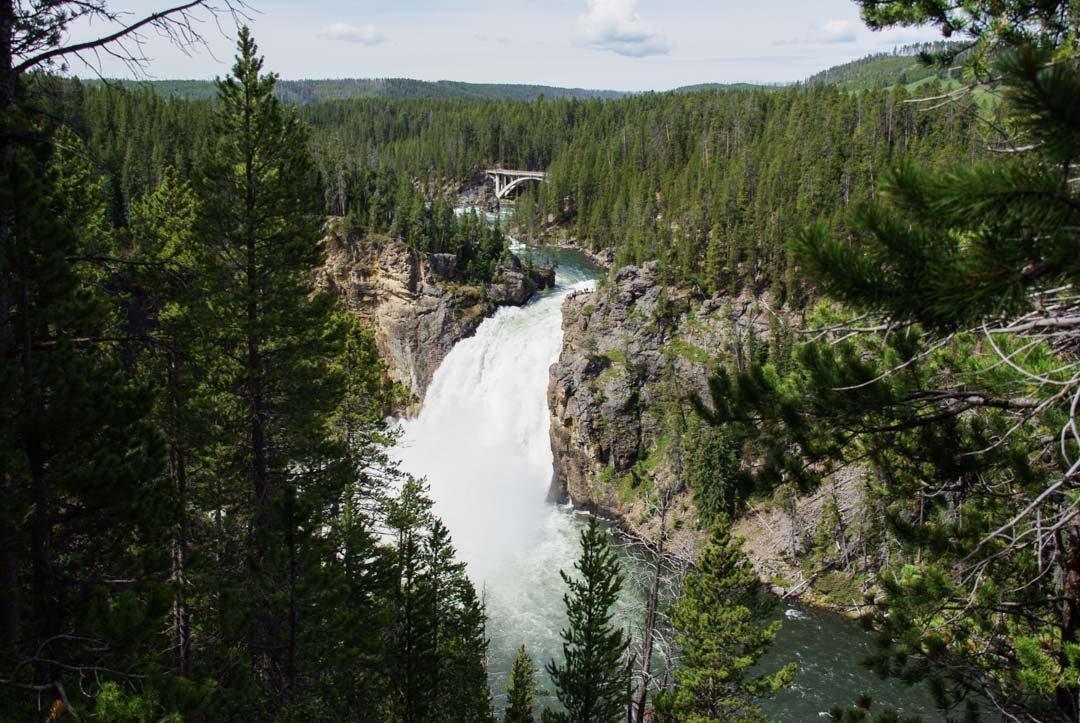 Cascade Upper Falls à Yellowstone