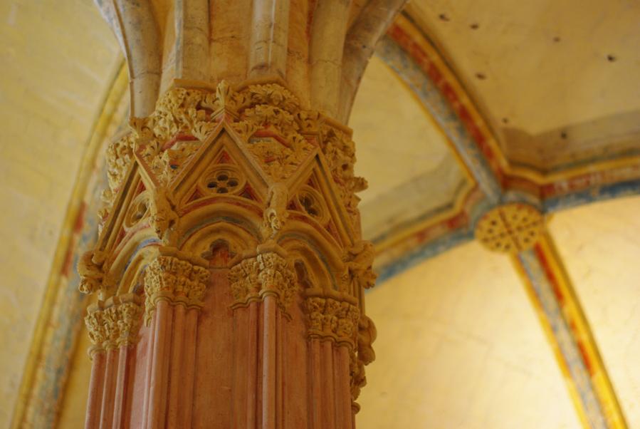 Voutes avec reste de polychromie - Donjon du château de Vincennes