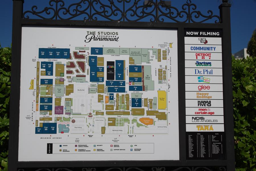 plan des studios cinéma Paramount à Los Angeles
