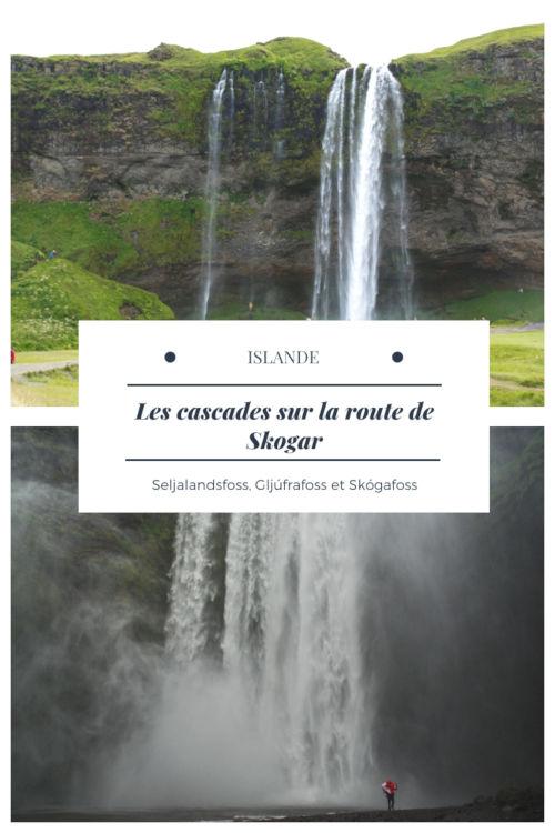 Les cascades sur la route de Skogar - Islande