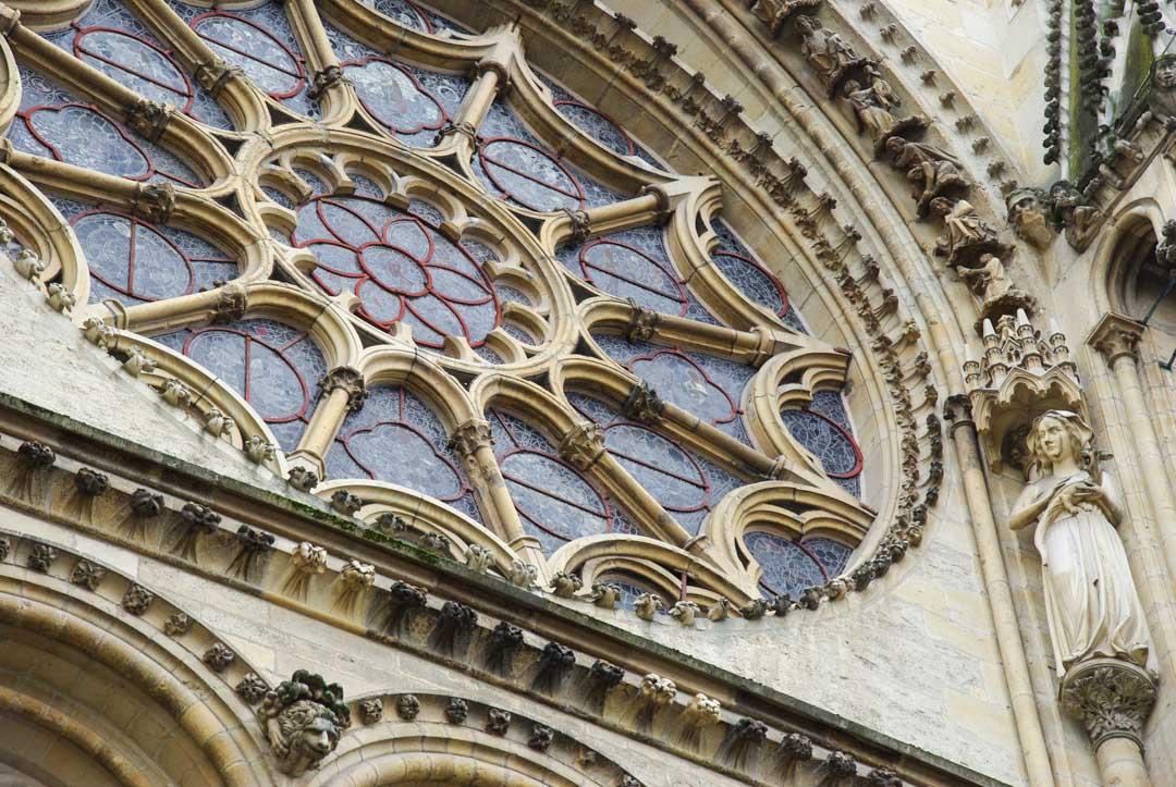 Rosace principale de la cathédrale de Reims