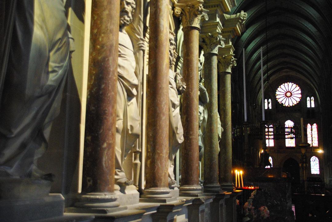 intérieur de la basilique Saint Rémi - Reims