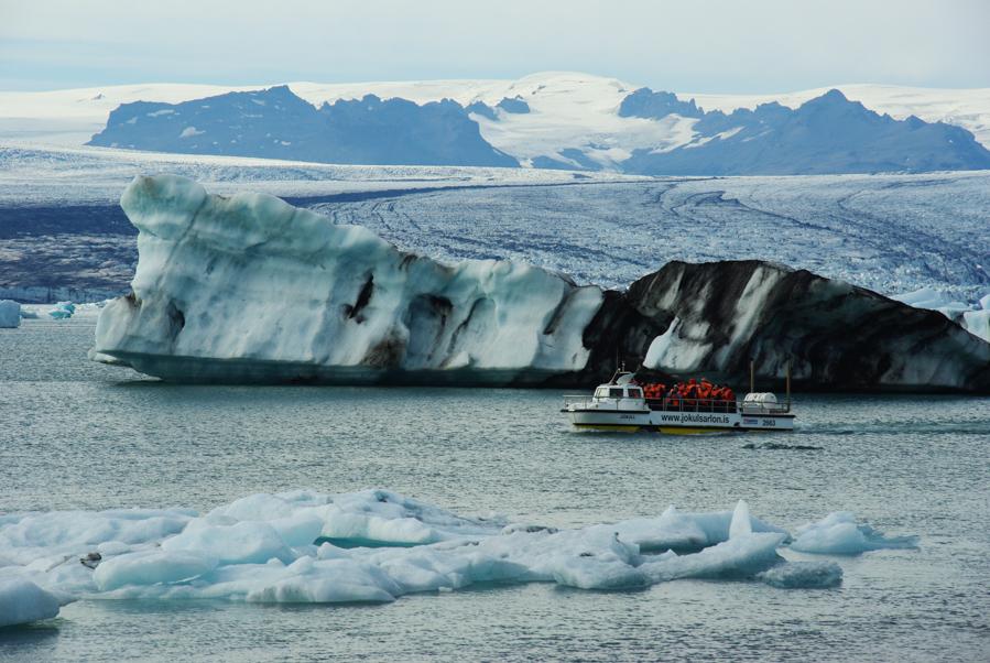 Balade en bateau sur le Jökulsárlón - Islande