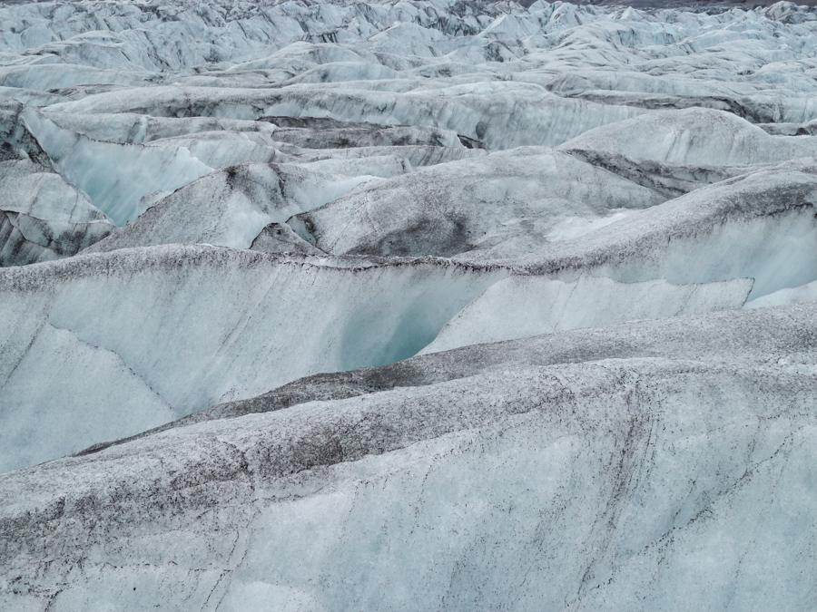 détail du glacier de Svinafellsjokull