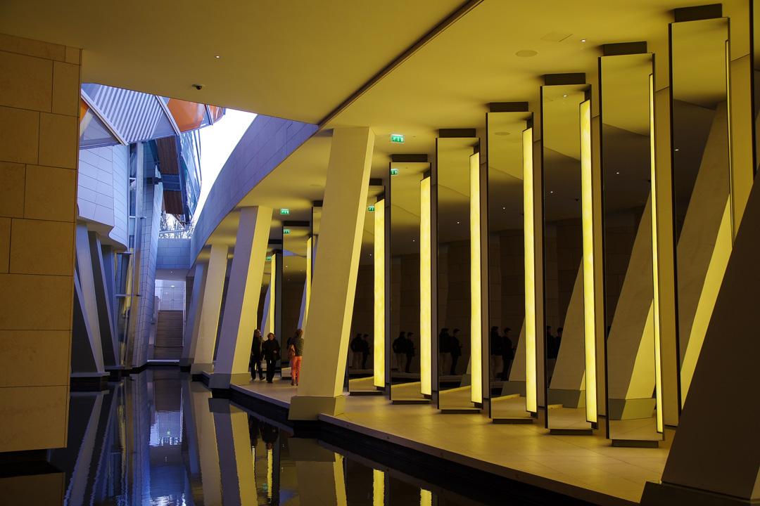 Oeuvre d'Olafur Eliasson à la Fondation Vuitton