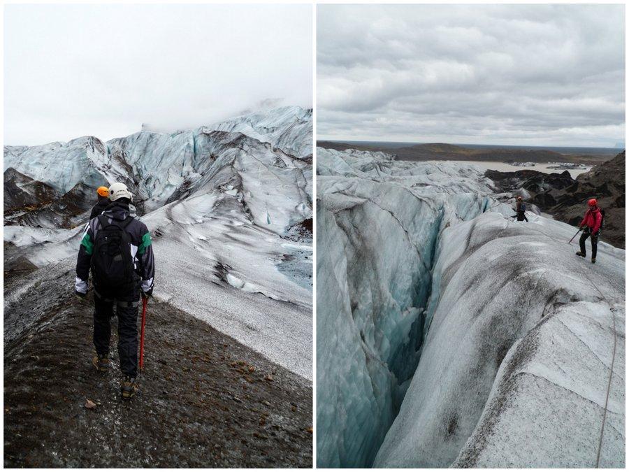 randonnée sur le glacier de Svinafellsjokull en Islande