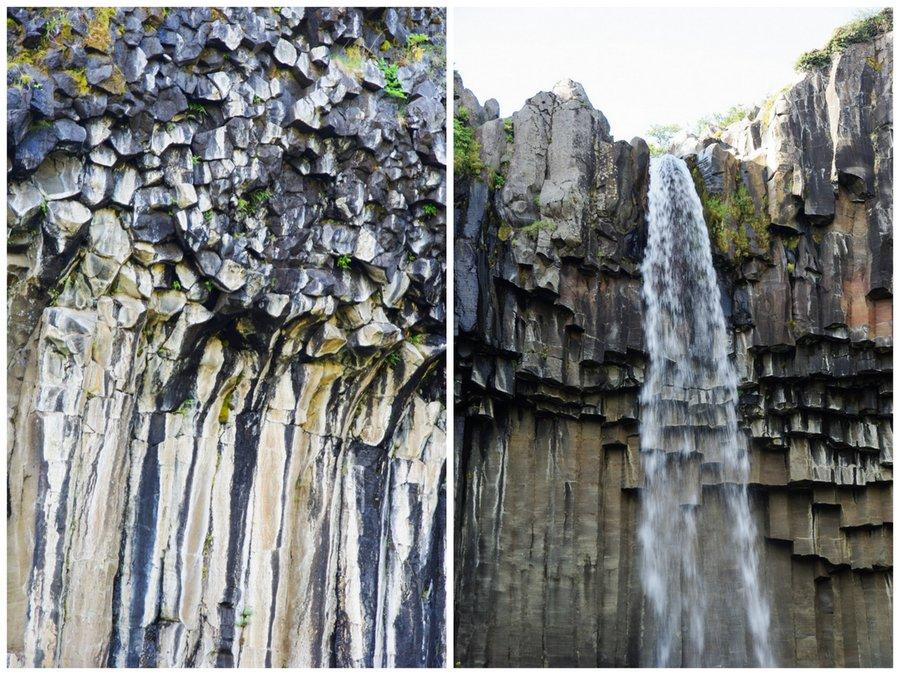 cascade de Svartifoss - Parc National de Skaftafell