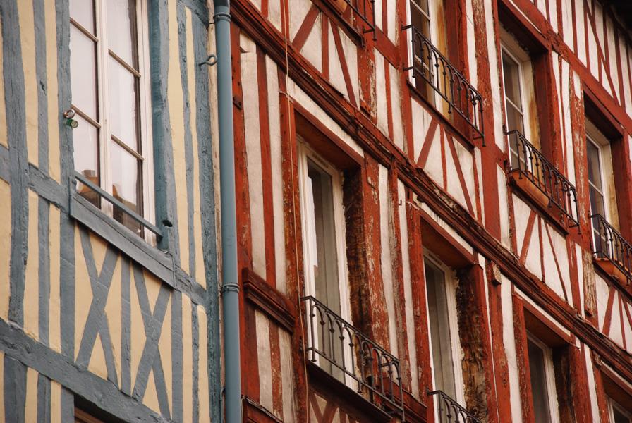façades à colombages - centre ville de Rouen
